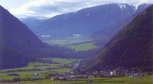 Blick von Mals ins Münstertal