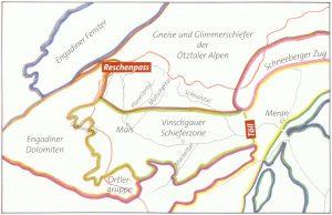 Geologie Vinschgau und Umgebung