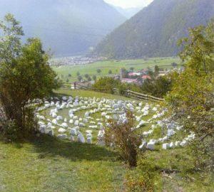 Labyrinth aus Marmor am Sonnenberg von Mals