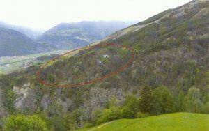 Ganglegg, rätische Siedlung oberhalb von Schluderns