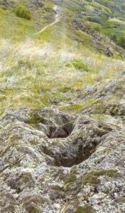 Schalensteine auf der Südseite des Tartscher Bühel